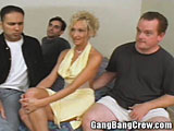 Blonde MILF Her First Gang Bang